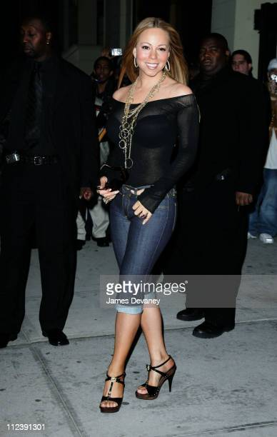 Mariah Carey during Mariah Carey Sighting in New York City April 13 2006 at Midtown Manhattan in New York City New York United States