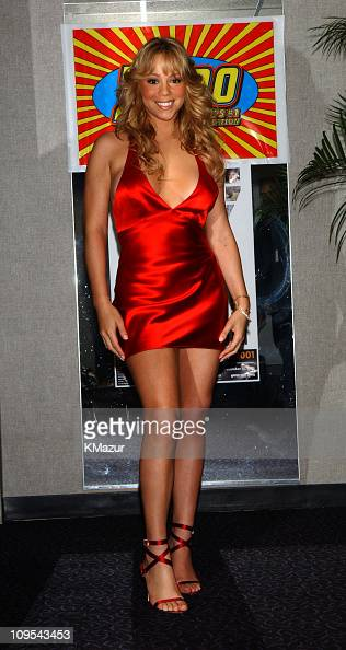 Mariah Carey during The Z100 Jingle Ball 2001 at Madison Square Garden at Madison Square Garden in New York City New York United States