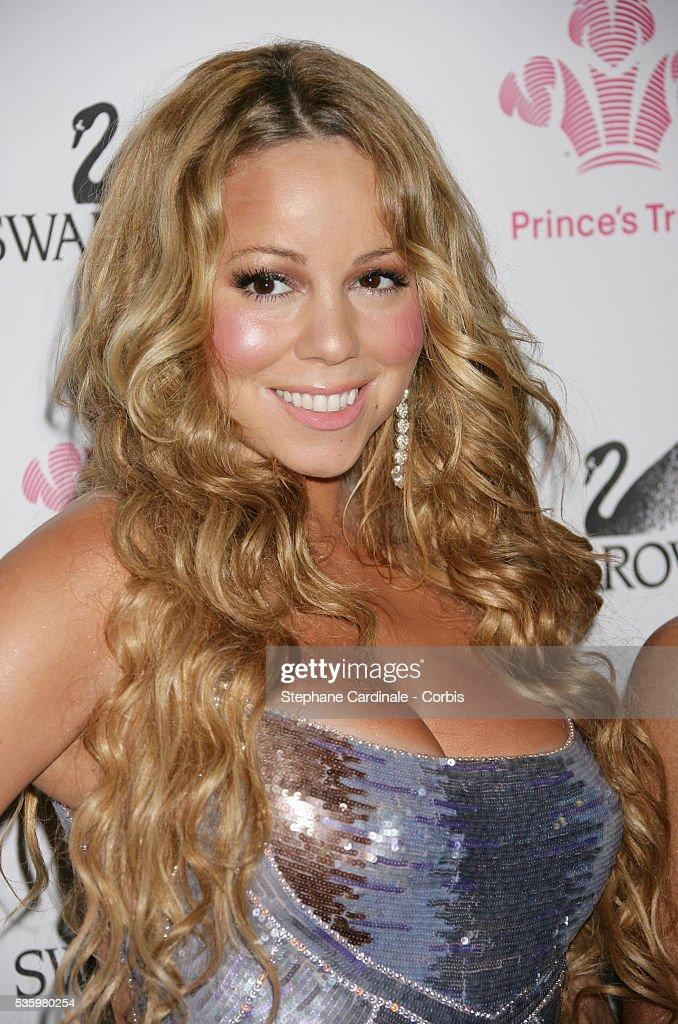 Mariah Carey in the press room at the Swarovski Fashion Rocks held in Monaco.