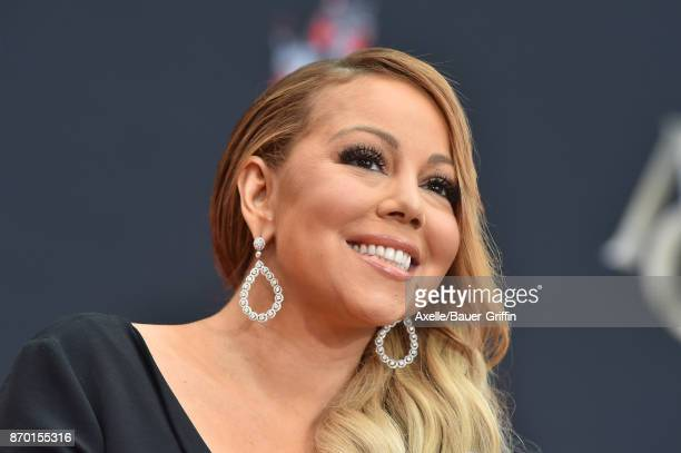 Mariah Carey is honored with Hand and Footprint Ceremony at TCL Chinese Theatre on November 1 2017 in Hollywood California