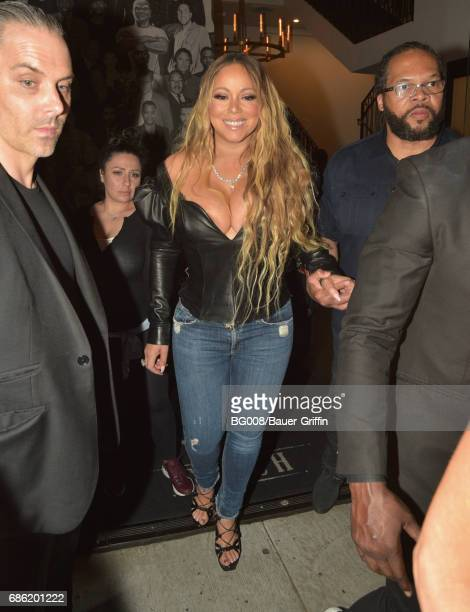 Mariah Carey is seen at 'Catch' on May 20 2017 in Los Angeles California