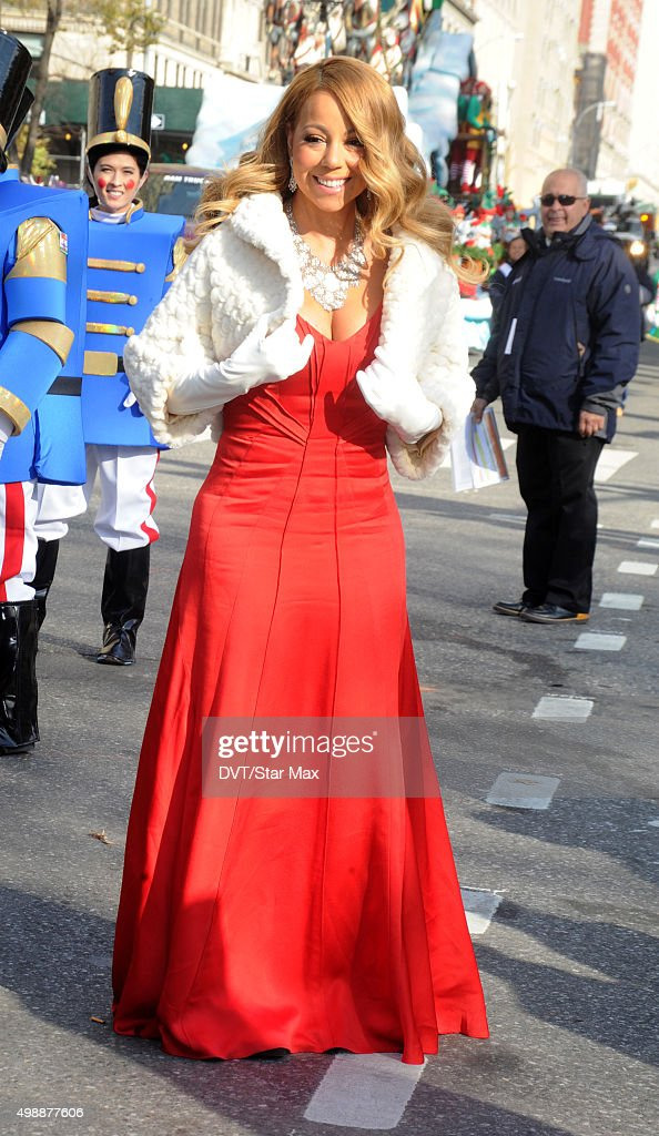 Mariah Carey is seen at The MACY's Thanksgiving Day Parade on November 26 2015 in New York City