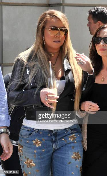 Mariah Carey is seen leaving a hotel on June 20 2017 in Barcelona Spain