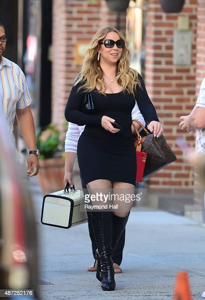 Mariah Carey is seen walking in Soho on September 7 2015 in New York City