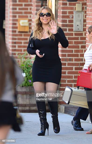Mariah Carey is seen walking in Sohon on September 7 2015 in New York City