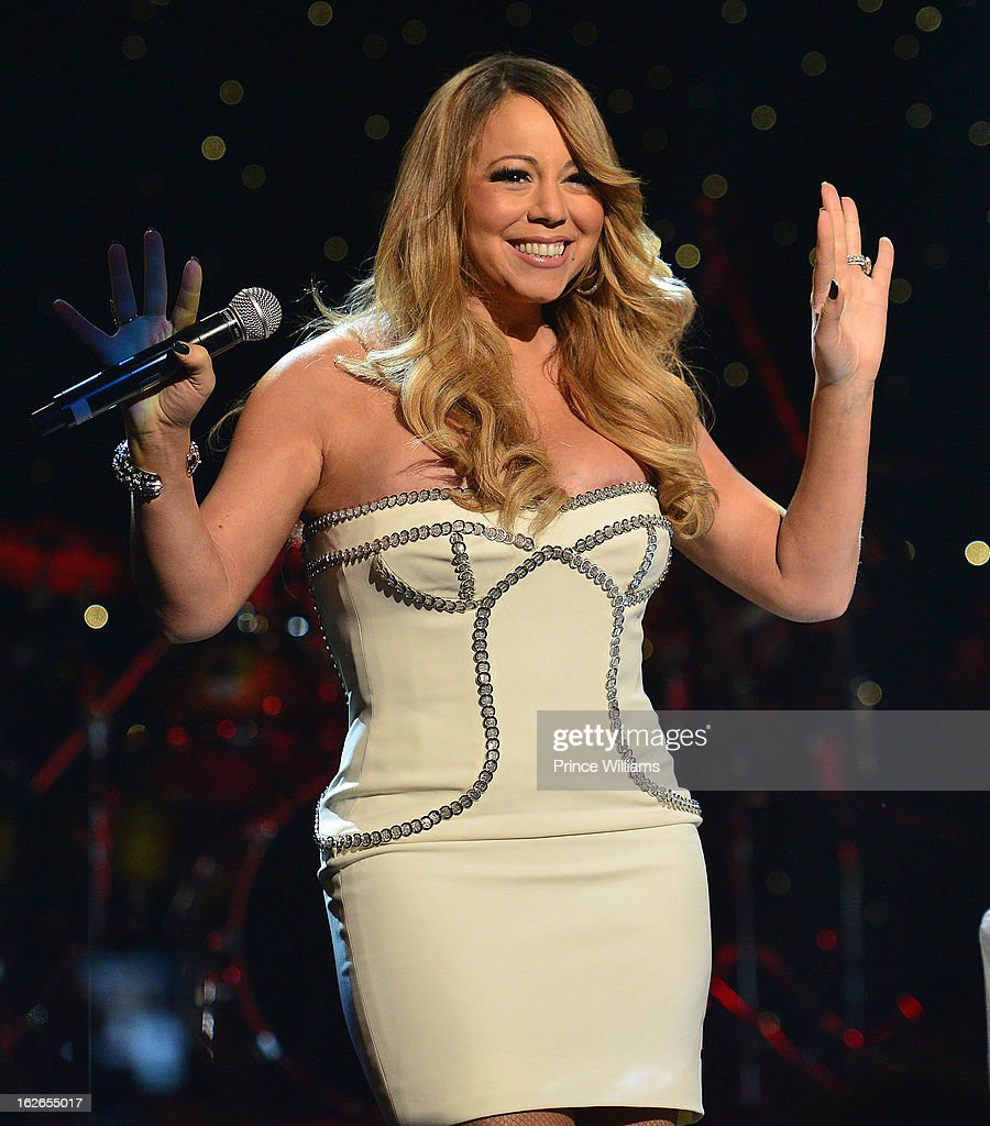 <a gi-track='captionPersonalityLinkClicked' href=/galleries/search?phrase=Mariah+Carey&family=editorial&specificpeople=171647 ng-click='$event.stopPropagation()'>Mariah Carey</a> onstage at the So So Def 20th anniversary concert at the Fox Theater on February 23, 2013 in Atlanta, Georgia.