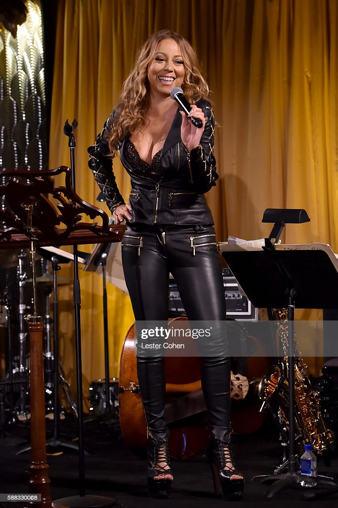 Mariah Carey onstage during the special event for UN Secretary-General Ban Ki-moon hosted by Brett Ratner and David Raymond at Hilhaven Lodge on August 10, 2016 in Los Angeles, California.
