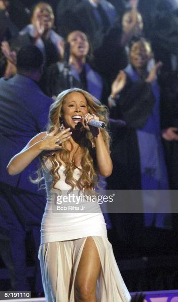 Mariah Carey performs at the...
