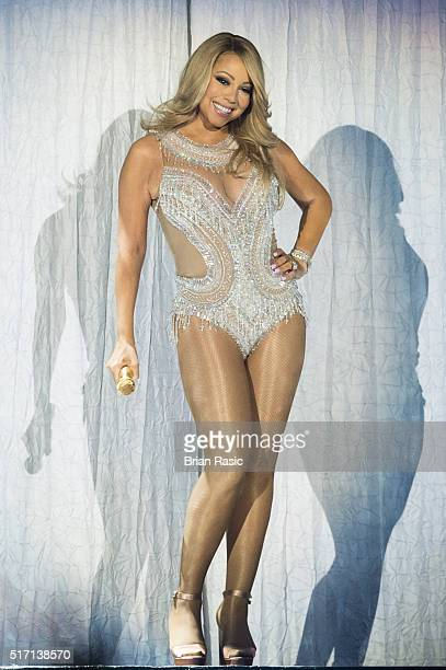 Mariah Carey performs at The O2 Arena on March 23 2016 in London England