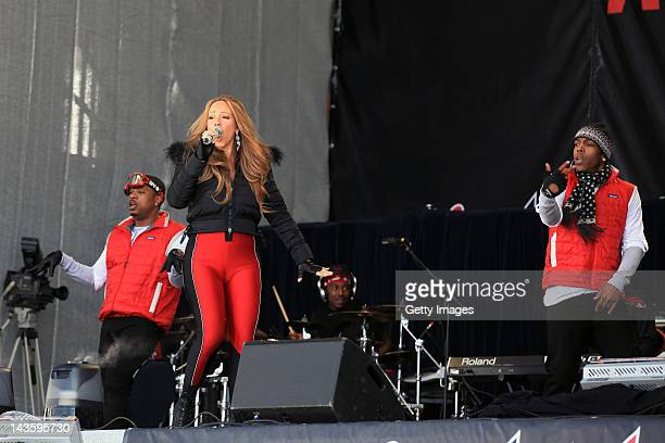 Mariah Carey performs at the 'Top Of The Mountain Concert' at Idalp on April 30 2012 in Ischgl Austria