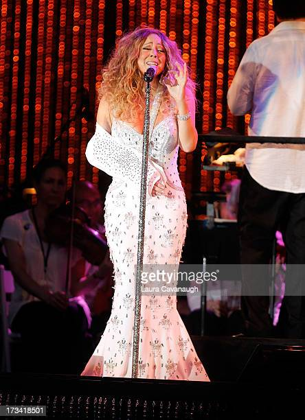 Mariah Carey performs during 2013 Major League Baseball AllStar Charity Concert at Central Park Great Lawn on July 13 2013 in New York City