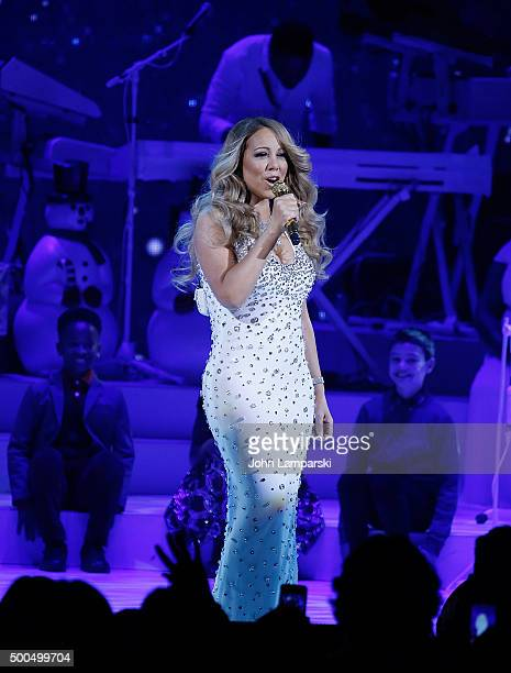 Mariah Carey performs during her second annual 'All I Want For Christmas Is You' Concert at Beacon Theatre on December 8 2015 in New York City