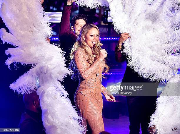 Mariah Carey performs during New Year's Eve 2017 in Times Square on December 31 2016 in New York City