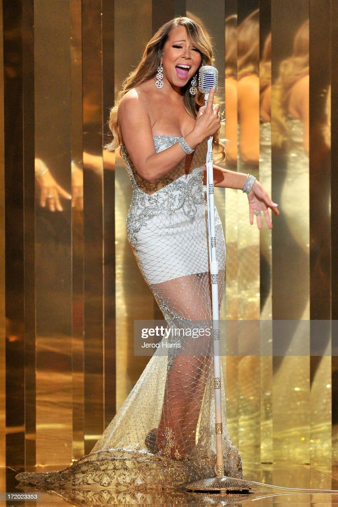 <a gi-track='captionPersonalityLinkClicked' href=/galleries/search?phrase=Mariah+Carey&family=editorial&specificpeople=171647 ng-click='$event.stopPropagation()'>Mariah Carey</a> performs during the 2013 BET Awards at Nokia Plaza L.A. LIVE on June 30, 2013 in Los Angeles, California.