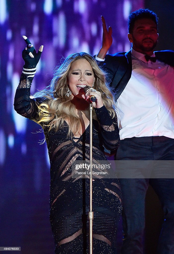 <a gi-track='captionPersonalityLinkClicked' href=/galleries/search?phrase=Mariah+Carey&family=editorial&specificpeople=171647 ng-click='$event.stopPropagation()'>Mariah Carey</a> performs during the ceremony of World Music Awards at Sporting Monte-Carlo on May 27, 2014 in Monte-Carlo, Monaco.