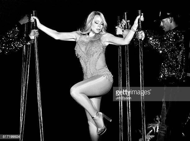 Mariah Carey performs live on stage during her Sweet Sweet Fantasy tour at The O2 Arena on March 23 2016 in London England