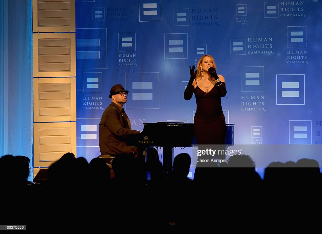 Mariah Carey performs onstage during the Human Rights Campaign Los Angeles Gala 2015 at JW Marriott Los Angeles at L.A. LIVE on March 14, 2015 in Los Angeles, California.