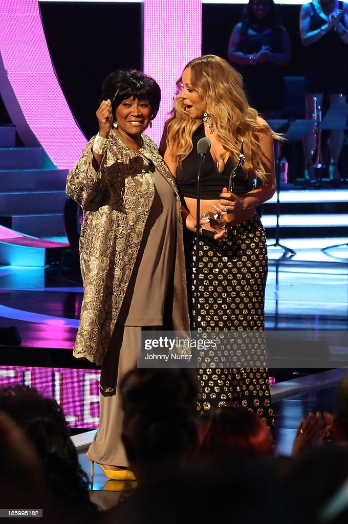 <a gi-track='captionPersonalityLinkClicked' href=/galleries/search?phrase=Mariah+Carey&family=editorial&specificpeople=171647 ng-click='$event.stopPropagation()'>Mariah Carey</a> (r) presents <a gi-track='captionPersonalityLinkClicked' href=/galleries/search?phrase=Patti+LaBelle&family=editorial&specificpeople=203302 ng-click='$event.stopPropagation()'>Patti LaBelle</a> (L) with the Living Legend Award during Black Girls Rock! 2013 at New Jersey Performing Arts Center on October 26, 2013 in Newark, New Jersey.