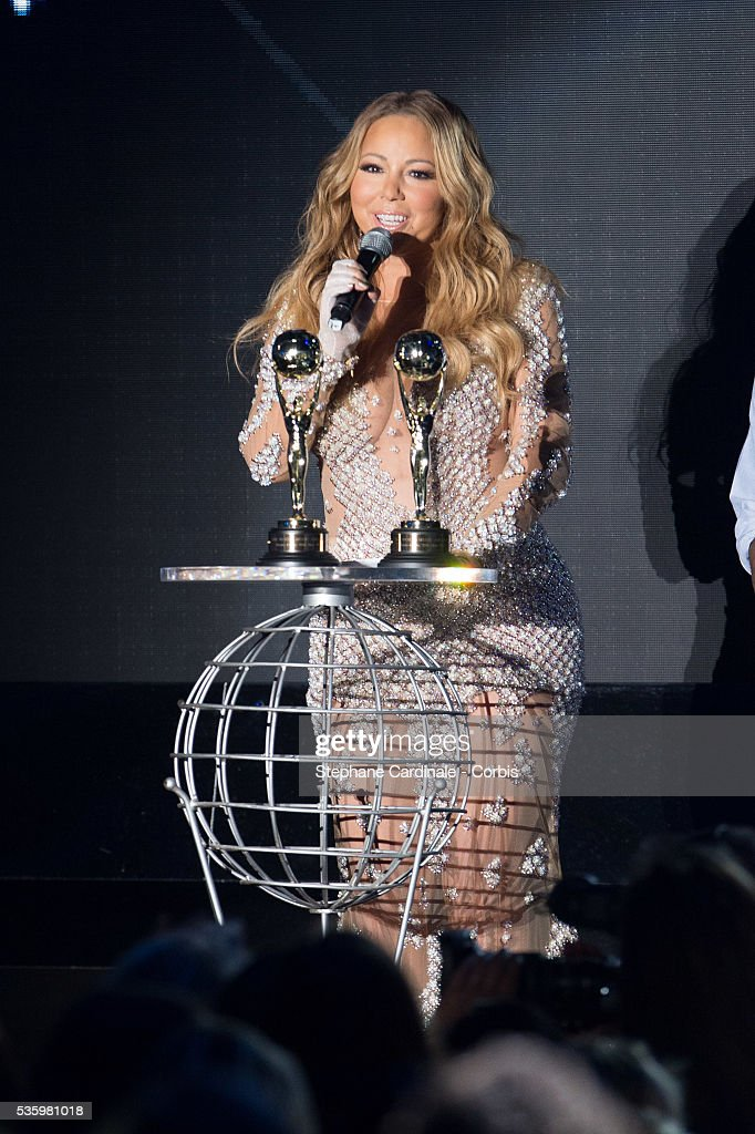 Mariah Carey receives an award for Pop Rock Icon & BestSelling Singles artist in America Awards during the ceremony of the World Music Awards 2014 at Sporting Monte-Carlo on May 27, 2014 in Monte-Carlo, Monaco.