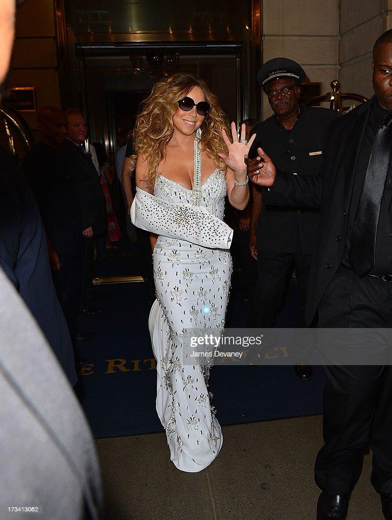 Mariah Carey seen leaving the Ritz-Carlton on July 12, 2013 in New York City.