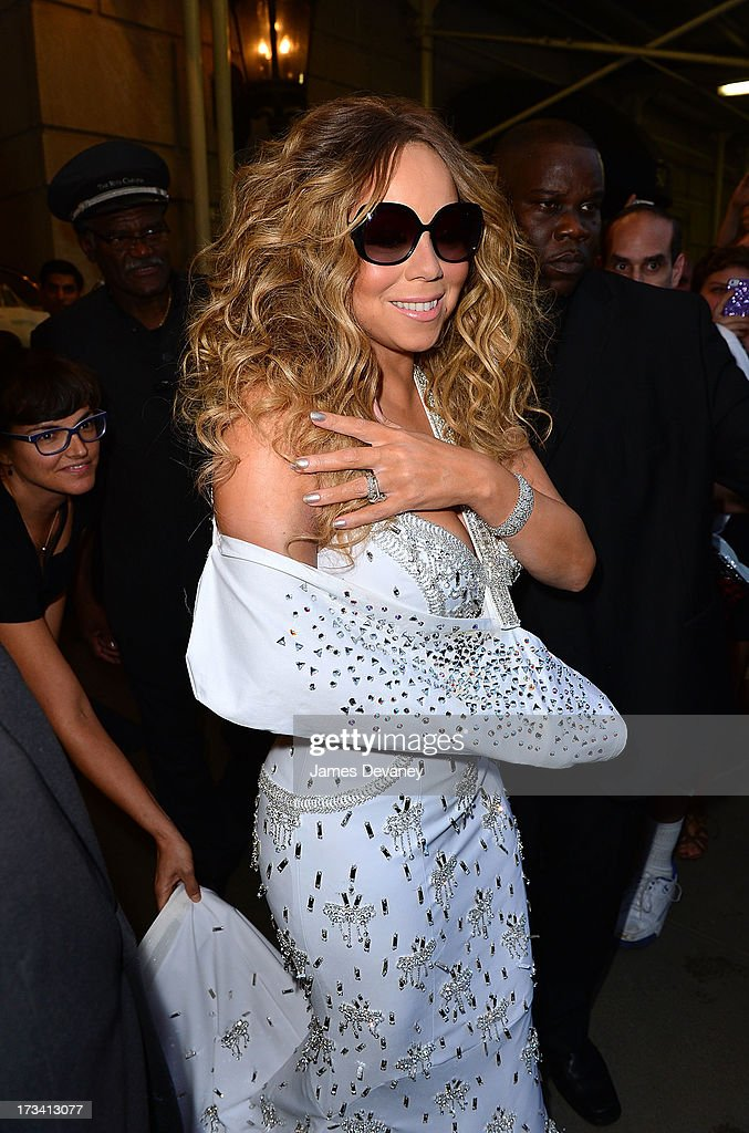 Mariah Carey seen leaving the Ritz-Carlton on July 12, 2013 in New York City.