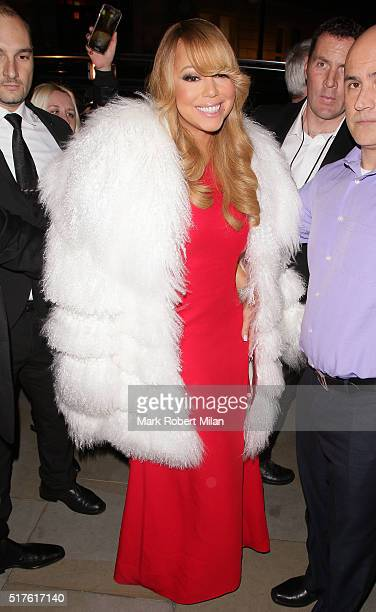 Mariah Carey sighting on March 23 2016 in London England
