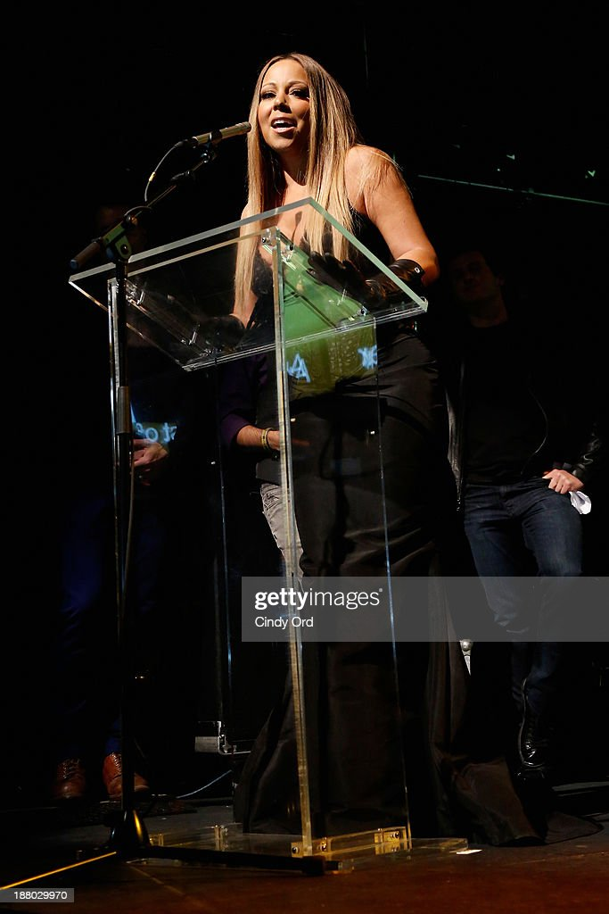 <a gi-track='captionPersonalityLinkClicked' href=/galleries/search?phrase=Mariah+Carey&family=editorial&specificpeople=171647 ng-click='$event.stopPropagation()'>Mariah Carey</a> speaks onstage at the 19th Annual Out100 Awards presented by Buick at Terminal 5 on November 14, 2013 in New York City.