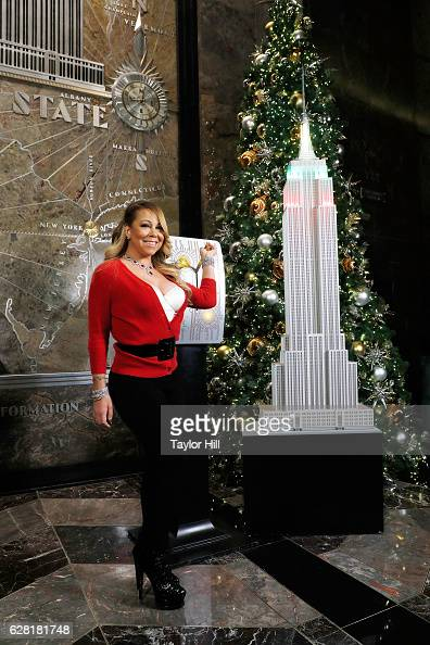 Mariah Carey visits the Empire State Building on December 6 2016 in New York City