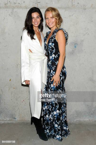 Mariah Strongin and Sailor BrinkleyCook attends Art Commerce The Exhibition opening at Skylight Modern on September 8 2017 in New York City