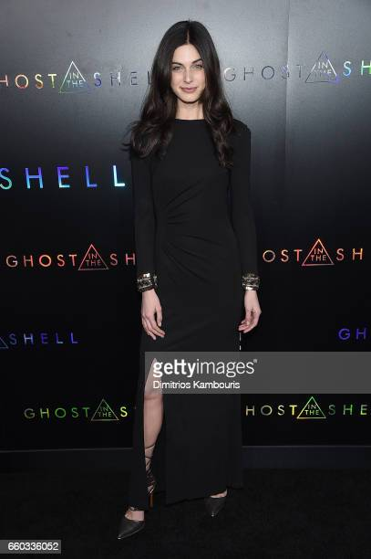 Mariah Strongin attends the 'Ghost In The Shell' premiere hosted by Paramount Pictures DreamWorks Pictures at AMC Lincoln Square Theater on March 29...