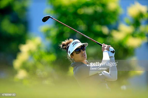 Mariajo Uribe of Colombia in action during her practice round as a preview for the 2015 KPMG Women's PGA Championship on the West Course at...