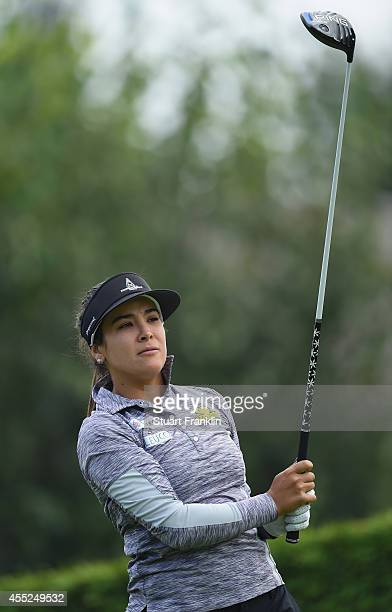 Mariajo Uribe of Columbia in action during the first round of The Evian Championship at the Evian Resort Golf Club on September 11 2014 in...