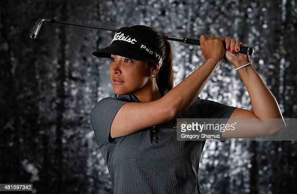 Mariajo Uribe of Columbia poses for a portrait prior to the Meijer LPGA Classic presented by Kraft at Blythefield Country Club on July 22 2015 in...