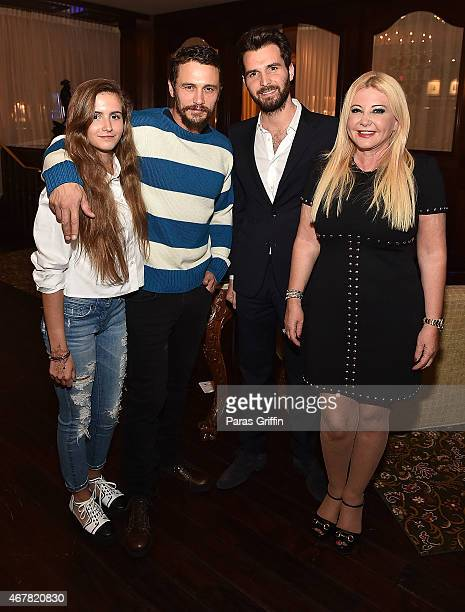 MariaLuisa Bacardi James Franco Andrea Iervolino and Monika Bacardi attend Andrea Monika Host A Private Party With The Cast Of 'In Dubious Battle' By...