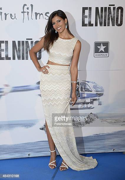 Mariam Bachir attends the premiere of 'El Nino' at Kinepolis Cinema on August 28 2014 in Madrid Spain