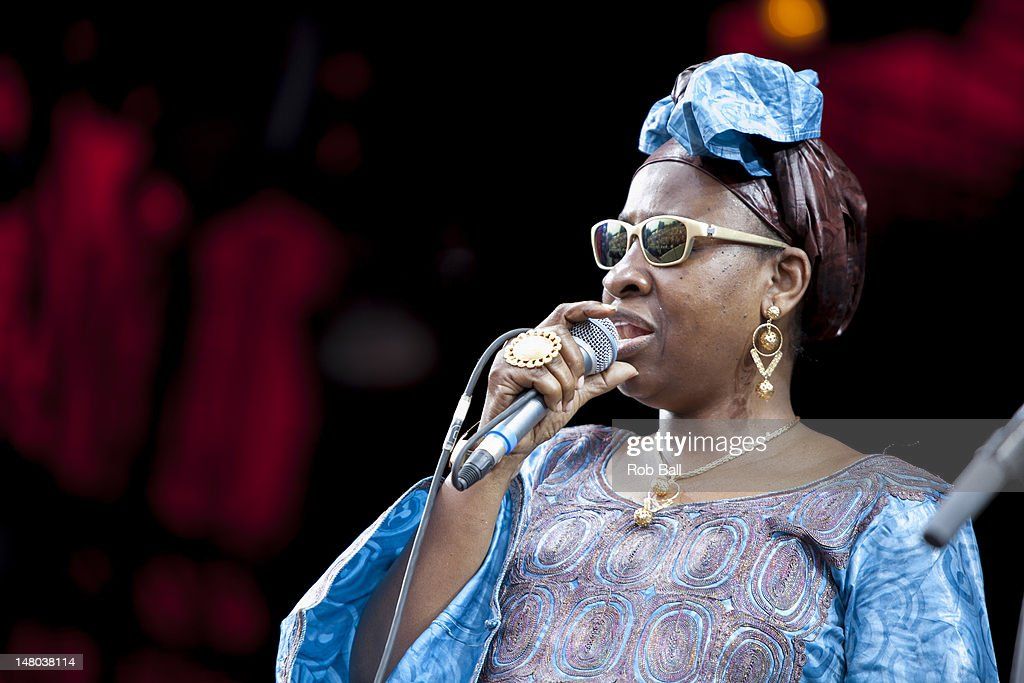Mariam Doumbia performs with Amadou & Mariam on day four of Roskilde Festival on July 8, 2012 in Roskilde, Denmark.