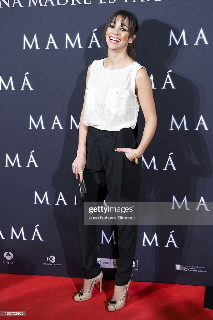 Mariam Hernandez attends the 'Mama' premiere at the Callao cinema on February 4, 2013 in Madrid, Spain.