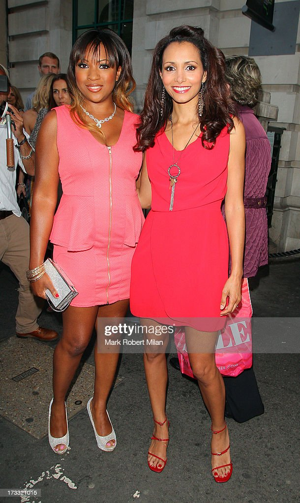 Mariama Goodman and Heavenli Roberts attending the Infiniti Gate Experience party on July 11, 2013 in London, England.