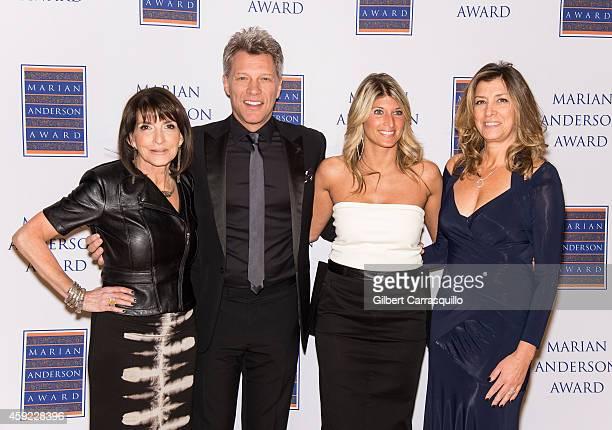 Marian Anderson Award Vice Chair Carol Tinari Honoree Jon Bon Jovi Board Chair Nina C Tinari and Dorothea Hurley attend the 2014 Marian Anderson...