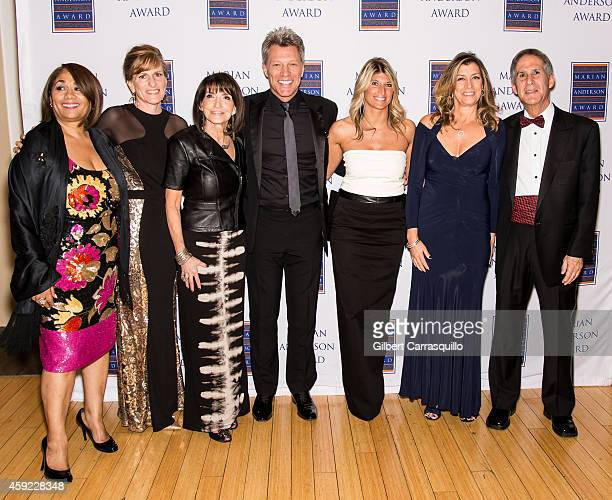Marian Anderson Award Vice Chair Dyana Williams Board Member Margaret Cronan Vice Chair Carol Tinari Honoree Jon Bon Jovi Board Chair Nina C Tinari...