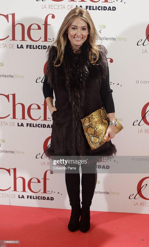 Marian Camino attends 'El chef, la receta de la felicidad' ('Comme un chef') premiere photocall at Palafox cinema on November 26, 2012 in Madrid, Spain.