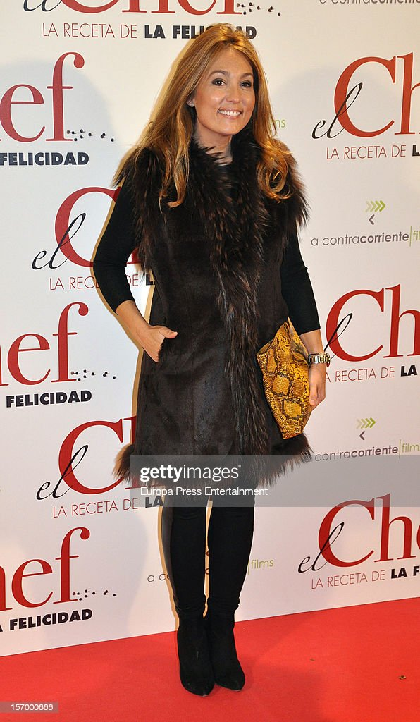Marian Camino attends 'El Chef, La Receta de la Felicidad' premiere on November 26, 2012 in Madrid, Spain.