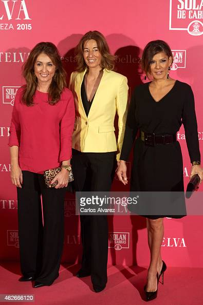 Marian Camino Monica Martin Luque and Ivonne Reyes attend the 'Telva' Beauty Awards 2015 at the Palace hotel on February 2 2015 in Madrid Spain