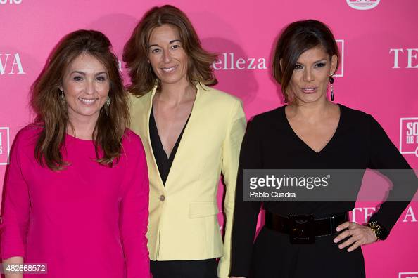 Marian Camino Monica Martin Luque and Ivonne Reyes attends Telva Beauty Awards at Palace hotel on February 2 2015 in Madrid Spain