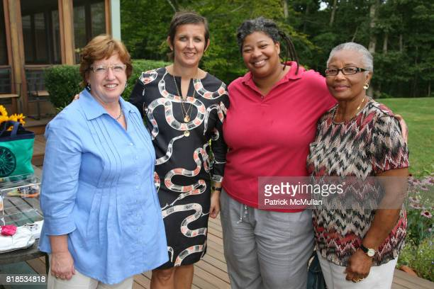 Marian Conway Frances Pennington Cheryl Smith and Eleanor Smith attend GINA HARMAN and TORY BURCH celebrate the partnership of ACCION USA and the...