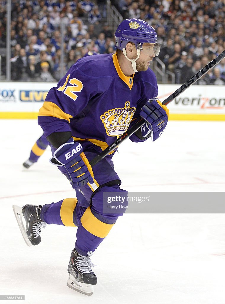 <a gi-track='captionPersonalityLinkClicked' href=/galleries/search?phrase=Marian+Gaborik&family=editorial&specificpeople=202477 ng-click='$event.stopPropagation()'>Marian Gaborik</a> #12 of the Los Angeles Kings joins a rush during the game against the Los Angeles Kings at Staples Center on March 13, 2014 in Los Angeles, California.