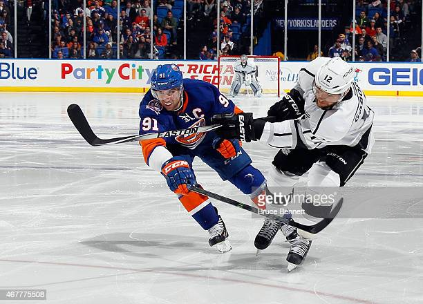 Marian Gaborik of the Los Angeles Kings skates against the New York Islanders at the Nassau Veterans Memorial Coliseum on March 26 2015 in Uniondale...
