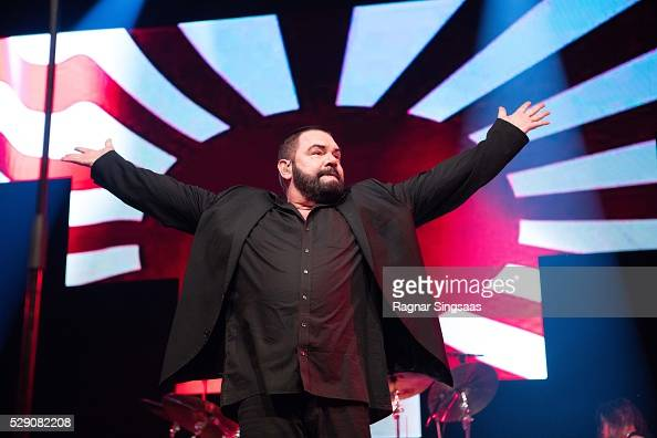 Marian Gold of Alphaville performs during the 'We Love the 80's' Festival at Telenor Arena on May 7 2016 in Oslo Norway