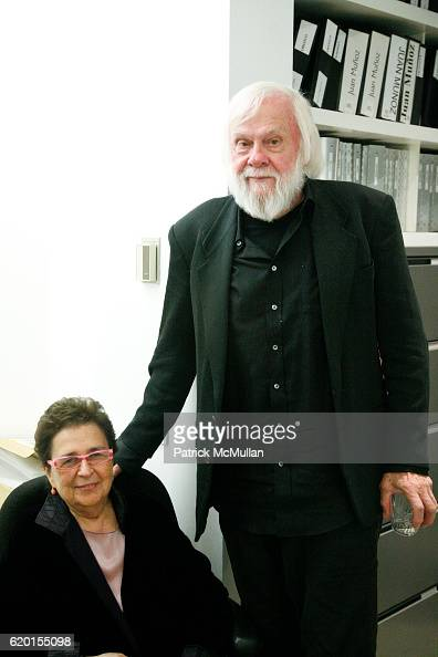 Marian Goodman and John Baldessari attend Marian Goodman Gallery presents JOHN BALDESSARI 'Raised Eyebrows/Furrowed Foreheads' 2008 at Marian Goodman...