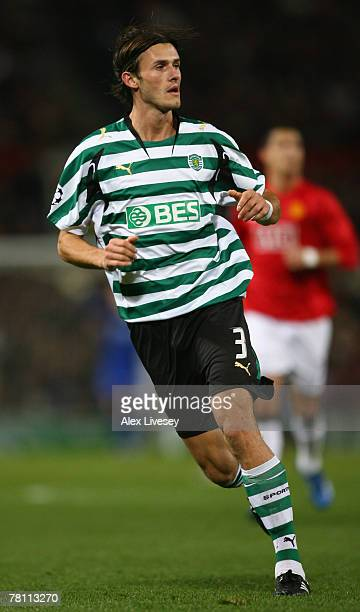 Marian Had of Sporting Lisbon in action during the UEFA Champions League Group F match between Manchester United and Sporting Lisbon at Old Trafford...
